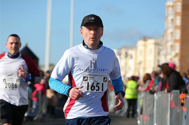 At the end of the Worthing HM. Looking casual but it definitely didn't feel like that.