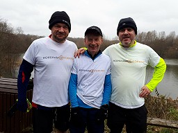 Roger, Clive and Matt at parkrun